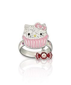 Take a look at this Silver Hello Kitty Sweet 52 Ring by SWAROVSKI on #zulily today! $40 !!