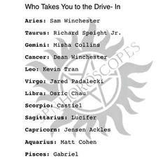 Supernatural zodiac