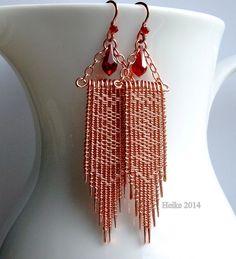 Twined Copper Earrings II