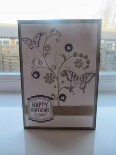 flowering flourishes stampin up   Stampin Up Flowering Flourishes Birthday card