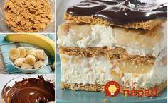 Fantastický nepečený dezert z jogurtovo-pudingového krému, banánov a čokoládovej polevy. Jeho príprava netrvá viac ako 15 minút.