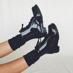 Rainboots with socks by @marlosonline on instagram
