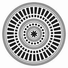 Stencil Template, Mayan Calendar Pattern,  6x6,  Crafter's Workshop