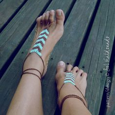Barefoot Sandals Crochet Pattern Tribe PDF geometric by bySol