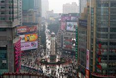 Chongqing shopping square.