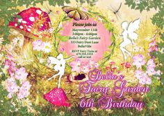 Fairy Fairies Fairy Garden Party Invitation Fairy by BellaLuElla Fairy Invitations, Garden Party Invitations, Shower Invitations, Birthday Invitations, Invites, Print Place, Woodland Party, Printing Services, Color Change