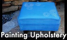 picture tutorial on how to paint upholstery: latex paint, textile medium, & water