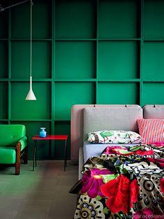 Green bedroom / Federico Cedrone - Photographer