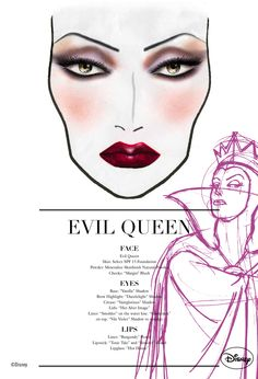 Evil Queen Mac Cosmetics Face Chart #Disney #SnowWhite #Villain #Halloween #makeup #HalloweenMakeup #party #HalloweenIdeas #beauty #HalloweenCostume #costumes #inspiration #crafts #DIY #howto #tutorial