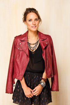 Roupa, pra que te quero?: Jaqueta de couro perfecto FARM - PRETA E VINHO