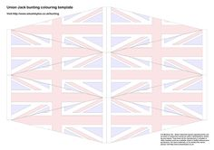 Celebrate the Jubilee with some craft activities for kids. Here's a template to create fun, easy print and colour Union Jack bunting. Queens Birthday Party, Queen Birthday, Bunting Template, Imagination Tree, Simple Prints, Craft Activities For Kids, Craft Ideas, Union Jack, Templates