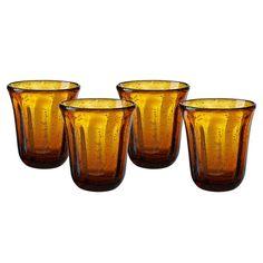 Artland Savannah 4-pc. Double Old-Fashioned Glass Set, Orange Oth