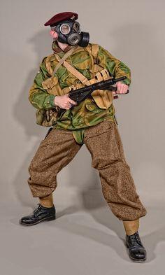 Military - uniform British paratrooper WW2 by MazUsKarL #british #army #soldier #uniform #military #history #khaki #ww2 #warfare #war #infantry #militaryhistory #militaryuniform #war #warfare #uk #paras #paratrooper
