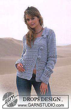 Ravelry: 90-21 Crocheted cardigan pattern by DROPS design