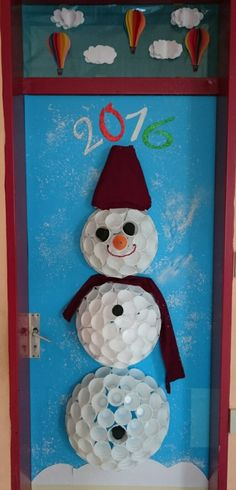 #winter #snow #classroom #door #decoration