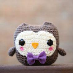 скромная сова амигуруми крючком схема вязаной игрушки