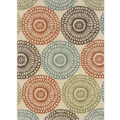 Ivory/ Blue Outdoor Area Rug (7'10 x 10') | Overstock.com Shopping - Great Deals on Style Haven 7x9 - 10x14 Rugs