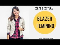 COSTURANDO BLAZER FEMININO - Roupas Feitas por Mim - YouTube Blazer Outfits, Jacket Pattern, Couture, Wrap Dress, Coat, Jackets, Stitching, Blazers, 1
