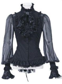 Festliche Rüschen Bluse (Gothic, Barock, Lolita)