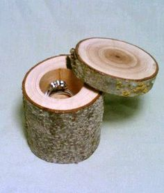 Cute Idea - Birch instead of the shown wood.  Jewelry Box Rustic Wedding Ring Bearer Box by DeerwoodCreekGifts, $25.00