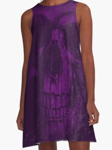 Purple Decay A-Line Dress  by Scar Design #summerclothing #summervacationsdress #beachdress #beach #summerfashion #giftsforher #gifts #giftsforteens #summergifts #womensfashion #hipster #colorful #style #swag #sunset #sunsetdress #dress #summerdress #summ