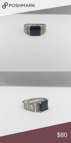 Black Onyx Ring Black Onyx Ring Materials: 925 Silver // Onyx Stone Accessories Jewelry