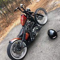 Cool little Metric Bobber - Moped - Motos Honda Bobber, Bobber Bikes, Harley Bobber, Harley Bikes, Ducati, Honda Shadow Bobber, Moto Chopper, Chopper Motorcycle, Bobber Chopper