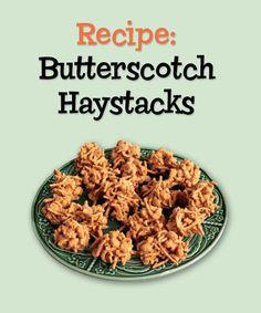 Butterscotch Haystacks - A fun fall recipe that kids can make!