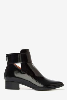 Jeffrey Campbell Starkey Box Leather Boot   Shop Shoes at Nasty Gal
