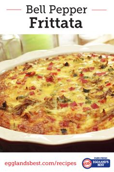 A great breakfast-for-dinner meal, serve this tasty frittata with a fresh green salad and toast. #EgglandsBest #Frittata #Brinner #Recipe