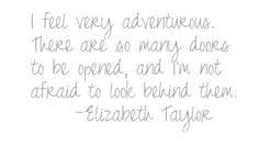 Elizabeth Taylor: adventurous