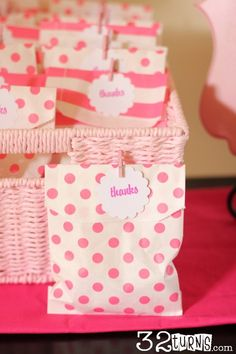 Thank You Favors Baby Shower