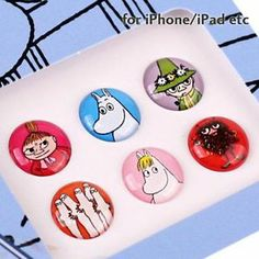 Moomin Home Button Sticker for iPhone iPod and I Pad Moomin Characters | eBay