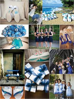Blue Wedding Idea Board