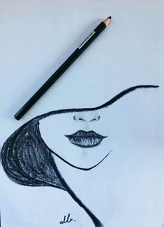 Drawing, 2019 dibujar arte, dibujos a lápiz ve cosas de dibujo. Easy Pencil Drawings, Cool Art Drawings, Drawing Sketches, Drawing Tips, Drawing Art, Woman Drawing, Easy Doodles Drawings, Drawing Techniques, Pencil Sketching