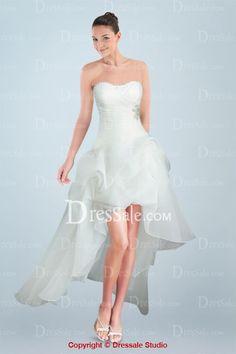Fabulous Short A-line Wedding Dress with Exquisite Appliques pink 2
