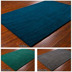 @Overstock.com - Mandara Hand-tufted Wool Rug (5' x 7'6) - Instantly update your home decor with this Mandara wool rug. Hand-tufted in India from superior quality wool. Available in three color options: teal blue, teal green and dark grey.  http://www.overstock.com/Home-Garden/Mandara-Hand-tufted-Wool-Rug-5-x-76/7508775/product.html?CID=214117 $170.27