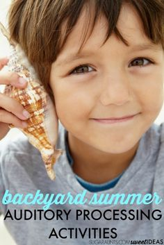 Auditory processing sensory ideas for backyard summer sensory play, perfect for sensory diet ideas for kids. #specialneeds