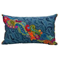 "Shop for Mina Victory by Nourison Fantasia Ocean Pillow (12"" x 20""). Get free…"