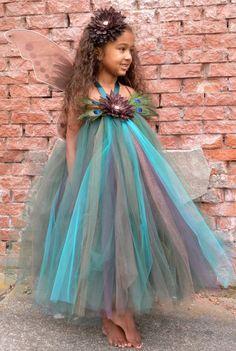 Precious Peacock Tutu Dress Youth by Cutiepatootiedesignz,