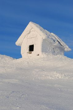 A snow covered shed on a -34C or -29F day in Åre, Sweden ~ Photo by...Eea Saarela.