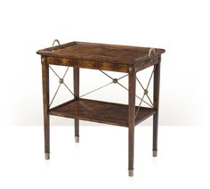 $2352 Theodore Alexander - Butler's Tiers Tray Table - AL50073 W30 1/2 x D20 x H331/2  FurnitureLand South