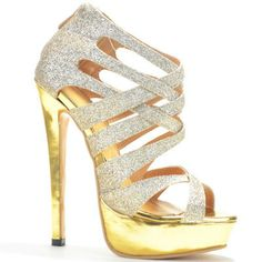Spring Summer 2014 Women Shoes High Heel Gold Glitter Platform ...
