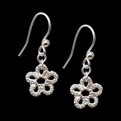 'Sakura' sterling silver earrings, by Ruth Mary Jewellery