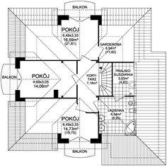 Rzut ARD Kasztan 3 paliwo stałe CE Window Design, Dom, Floor Plans, Home Decor, Windows, Ideas, Arquitetura, Home, Balconies