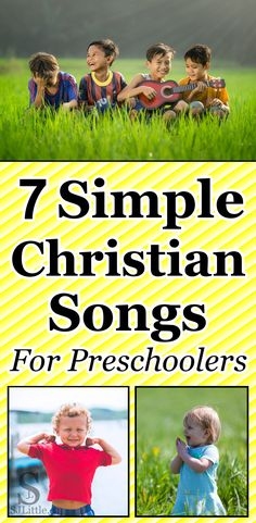 Kids love to sing! These simple Christian songs will help you teach your children meaningful Biblical truths while having fun! Sing them at church, home, Christian childcare, or Christian preschool. Childrens Bible Songs, Bible Songs For Kids, Toddler Bible, Preschool Bible Lessons, Preschool Music, Bible Lessons For Kids, Preschool Bible Crafts, Kids Praise Songs, Sunday School Songs