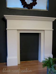 DIY mantle for those without a fireplace