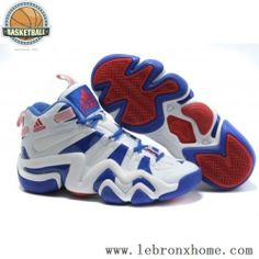 Adidas Crazy 8 Kobe Bryant White Blue Red Shoes