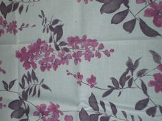 """SANDERSON CURTAIN CRAFT FABRIC REMNANT """"WISTERIA"""" LINEN BLEND 95 CM X 145 CM in Crafts, Sewing & Fabric, Fabric 