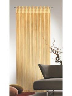 Dekorativer Fadenstore / Türvorhang mit Stangendurchzug. Gardinen-Outlet.com